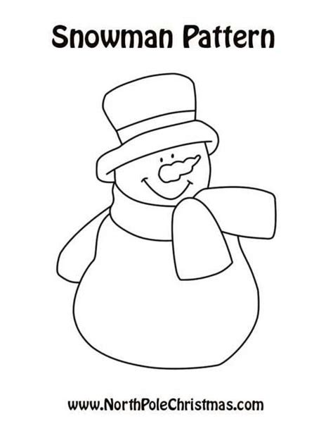 printable snowman pattern block template snowman patterns back to the snowman patterns main page