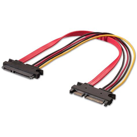 Kabel Power Sata Sata Mele To 2 Power Fimel 15 Cm 0 3m sata extension cable 22 pin extension from lindy uk