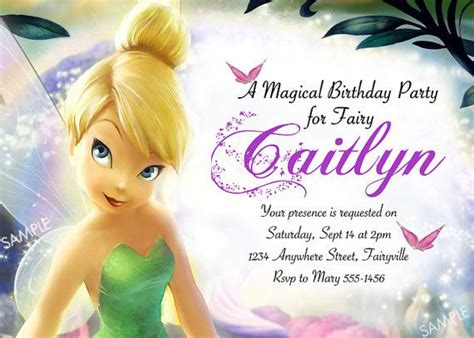 free printable disney fairies birthday invitations tinkerbell invitation for disney fairies by