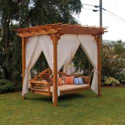 Swing Pergola Plans by Amazing Cedar Pergola Swing Bed Stand Plans Garden Landscape