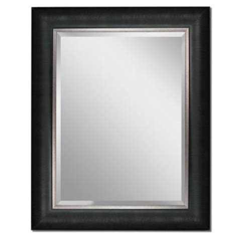 headwest 24 in x 30 in framed vanity mirror in black