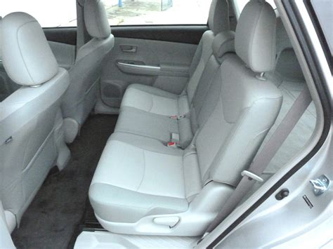 Back Seat by Review 2012 Toyota Prius V The About Cars