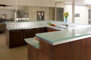 Glass Kitchen Countertops by Glass Tops For Cool And Unusual Kitchen Designs From