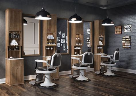 barber cahir with white and wood decor accents on floor