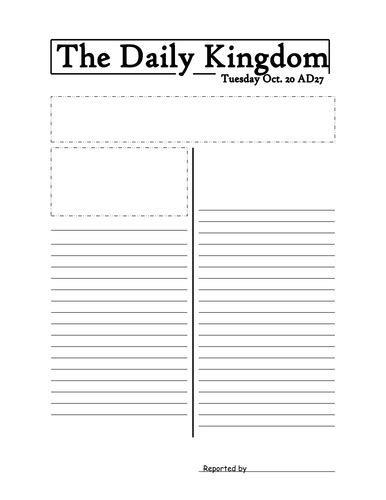 newspaper template by jmurphy37 teaching resources tes