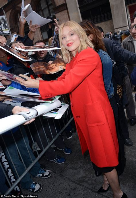 lea seydoux fan mail spectre bond girl lea seydoux smoulders in red with daniel