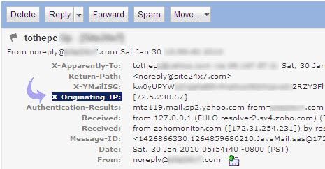 Yahoo Email Address Finder What Is My Ip Address Find Email Sender Ip Address In Gmail Yahoo Hotmail