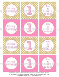 Stickerstiker Kaca Motif Polkadot happy birthday chevron diy cupcake toppers stickers labels and gift tags by sunshinetulipdesign