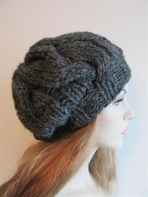 knitting pattern hat bulky yarn cabled slouchy super bulky hat by tvbapril24092218 craftsy