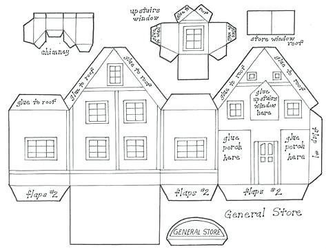 paper house templates to print cardboard for templates gallery template design ideas