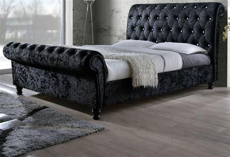 black velvet bed birlea furniture bordeaux upholstered beds crystal
