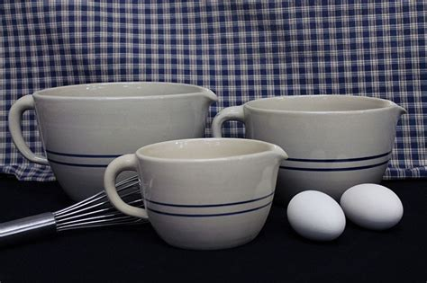 Stoneware Batter Bowls, 1/4 to 1 Gallon Sizes