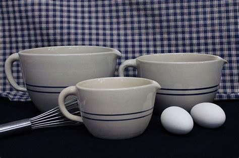 Stoneware Batter Bowls, 1/4 to 1 Gallon Sizes
