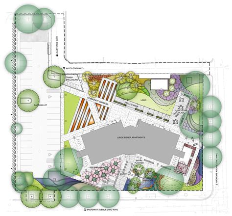 garden space planner judge fisher senior apartments chicago landscape design