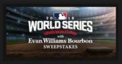 World Series Car Giveaway - evan williams bourbon world series sweepstakes sun sweeps