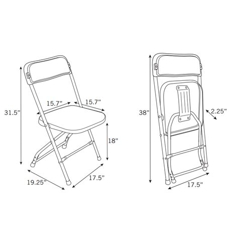 armchair measurements samsonite 2200 series injection mold folding chair case 10