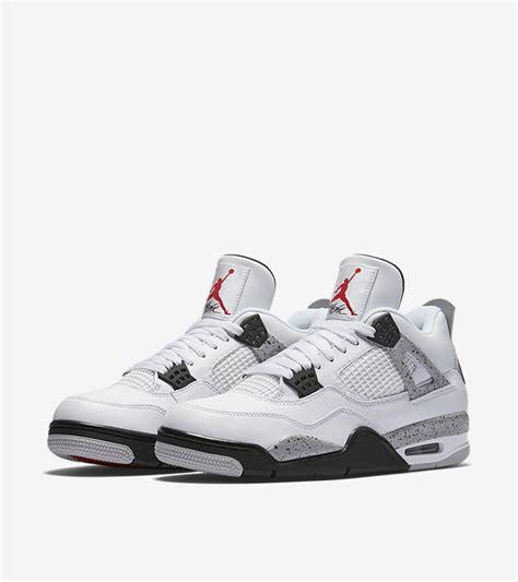 air jordan 4 iv c air jordan 4 retro white cement grey release date nike