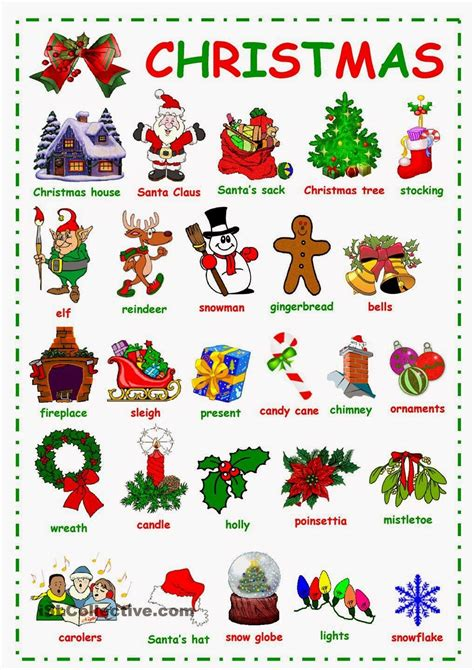 love the english language winter and christmas vocabulary