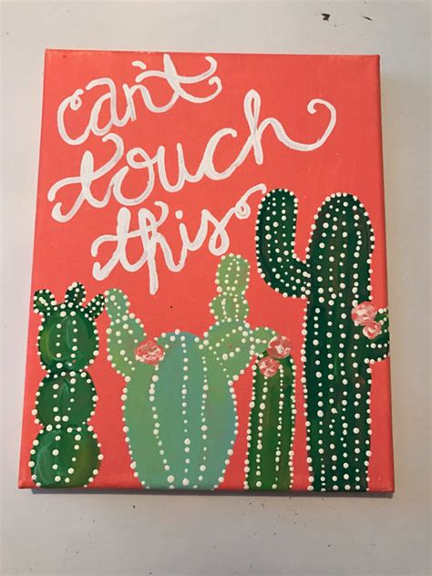What Do You Make Of This Jackie Canvas Bag By All Saints by Cant Touch This Cactus Canvas Puns Canvas Quote Custom