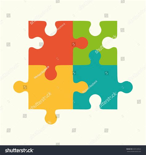 puzzle design elements vector puzzles flat puzzles logo puzzle design stock vector