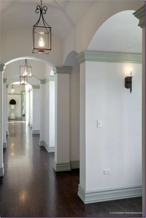 white walls grey trim the look moulding and wall colour an grey and