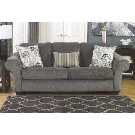 ashley furniture charcoal sofa ashley makonnen chenille sofa in charcoal 7800038