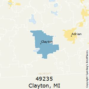 best places to live in clayton zip 49235 michigan
