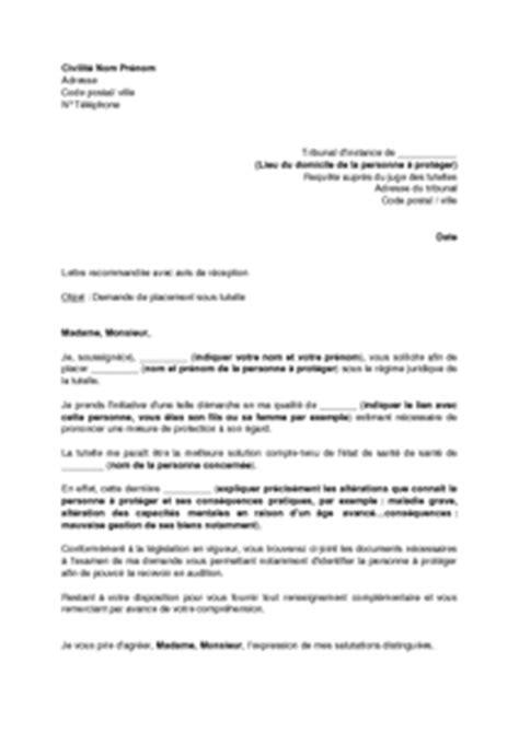 Exemple De Lettre Pour Un Juge Modele Lettre Au Juge Des Tutelles Document