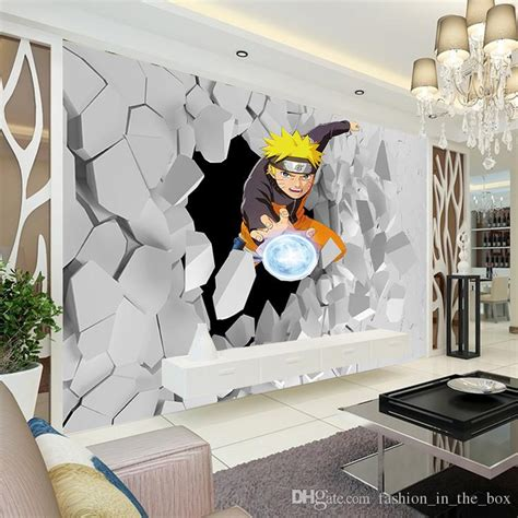 anime bedroom decor japanese anime wall mural 3d naruto photo wallpaper boys