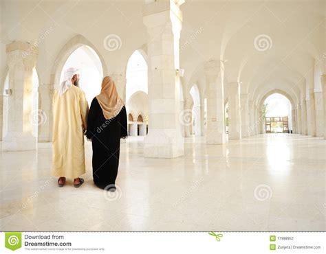 wallpaper arabic couple muslim arabic couple inside modern building stock photo
