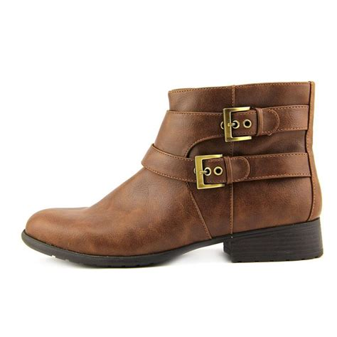 womens brown moto boots life stride x moto women faux leather brown ankle boot boots