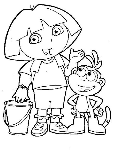 coloring pages dora boots 25 wonderful dora the explorer coloring pages