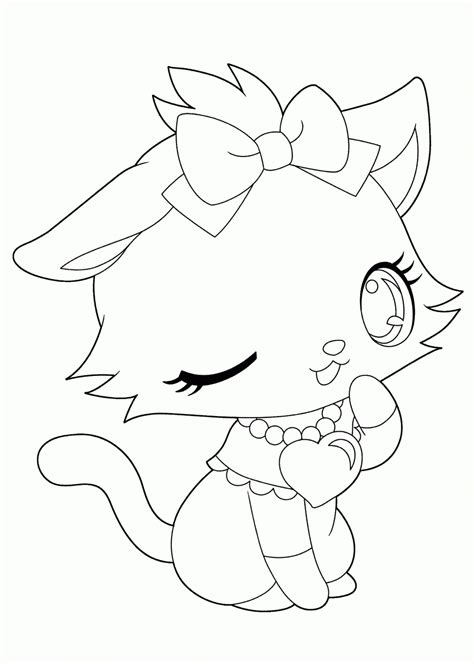 Free Anime Coloring Pages by Anime Animals Coloring Pages Coloring Home