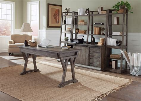 rustic home office furniture brook rustic saddle home office set from liberty