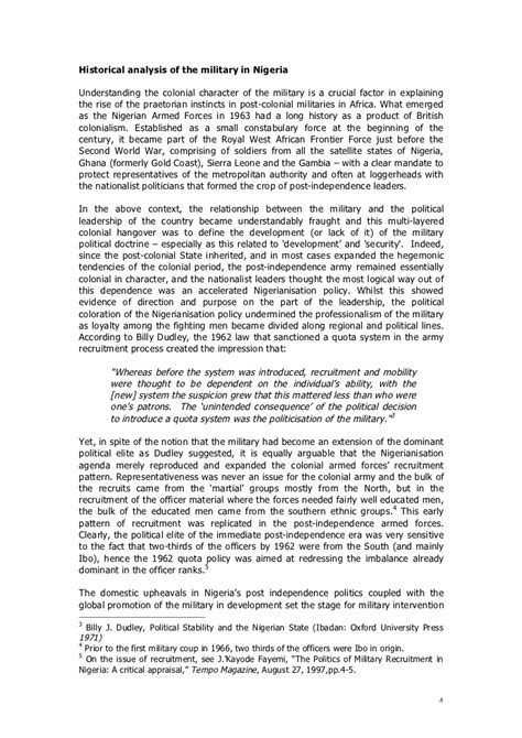 Civil Justice System Essay by Nigeria Position Paper On The