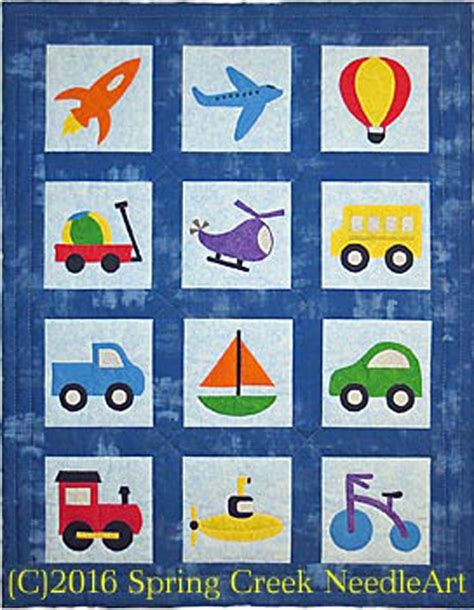 Transportation Quilt Pattern by Toys That Travel Transportation Quilt Pattern Scn 2074