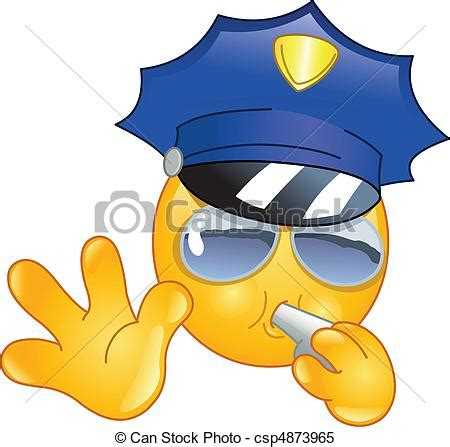 clipart vettoriali clipart vettoriali di emoticon poliziotto policeman