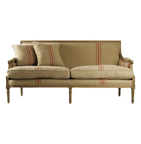 sofa french st germain french style red stripe linen louis xvi sofa