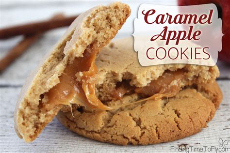 caramel apple cookies finding time  fly