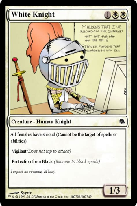 White Knight Meme - the periodically incarcerated adventures of sergeant save