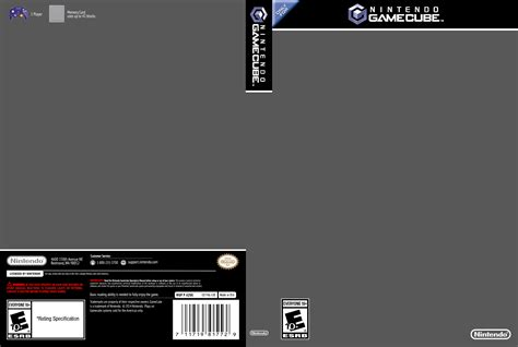 gamecube cover template by etschannel on deviantart
