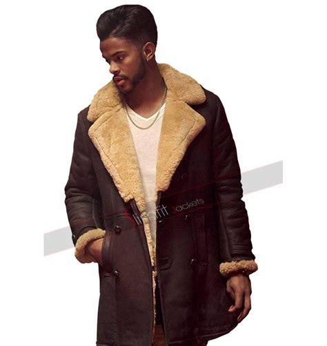 trevor jackson as priest superfly trevor jackson youngblood priest shearling coat
