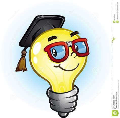 Fluorescent Light Glasses by Cartoon Light Bulb Vector Illustration Cartoondealer Com