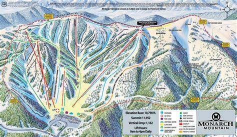 colorado ski areas map monarch mountain skiing snowboarding colorado vacation