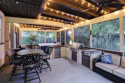 Bar Kitchen Island by 10 Homes For Sale With Outdoor Kitchens Life At Home