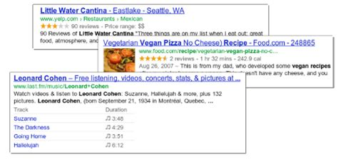 A Snippet by Official Webmaster Central Rich Snippets