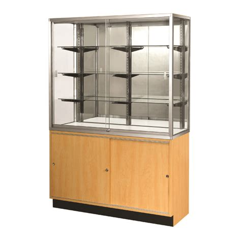 glass display cabinet the design tabloid standard glass wall showcase buy a retail wall display