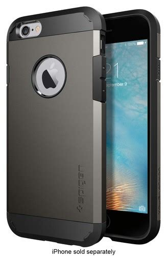 best buy spigen tough armor for apple 174 iphone 174 6 and 6s gunmetal sgp11612