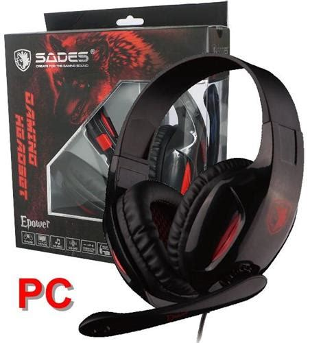 Casing Pc Gaming Sades Horus Free 3 Led sades epower sa 707 stereo pc gaming headset headphones noise cancel mic 3 5mm oz electronics inc