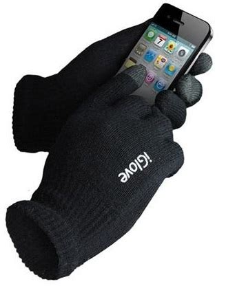 Iglove Touch Gloves For Smartphones Tablet Black Limited universal iglove touch gloves for smartphones tablet